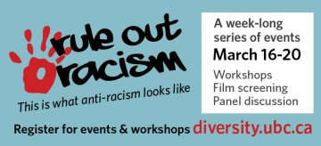 Rule Out Racism – UBC Vancouver